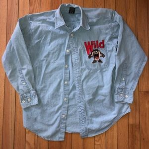 Vintage Tasmanian Devil Denim Shirt
